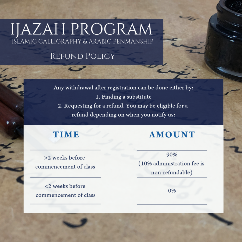 Ijazah Program Refund Policy