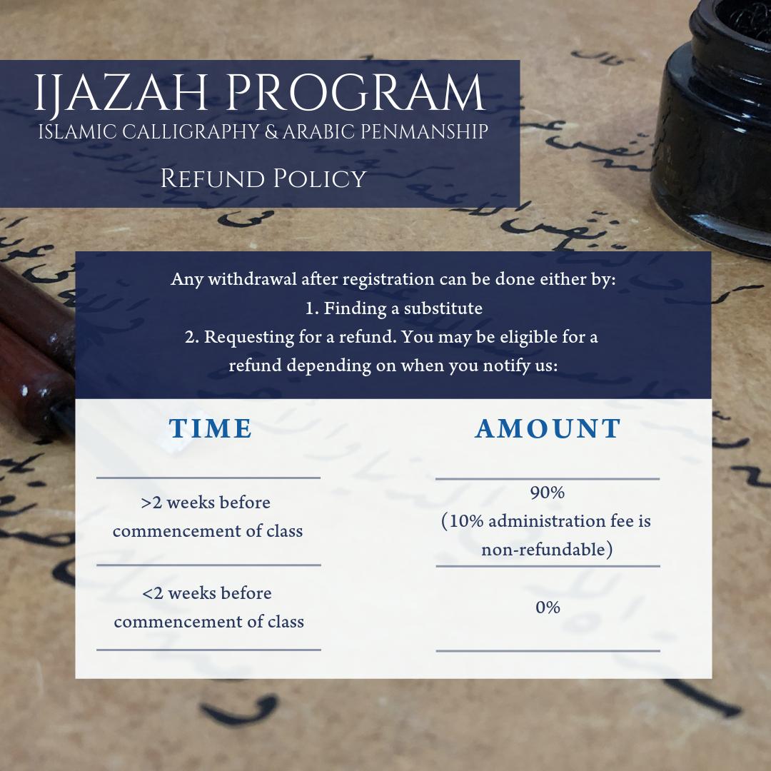Ijazah Program Refund Policy